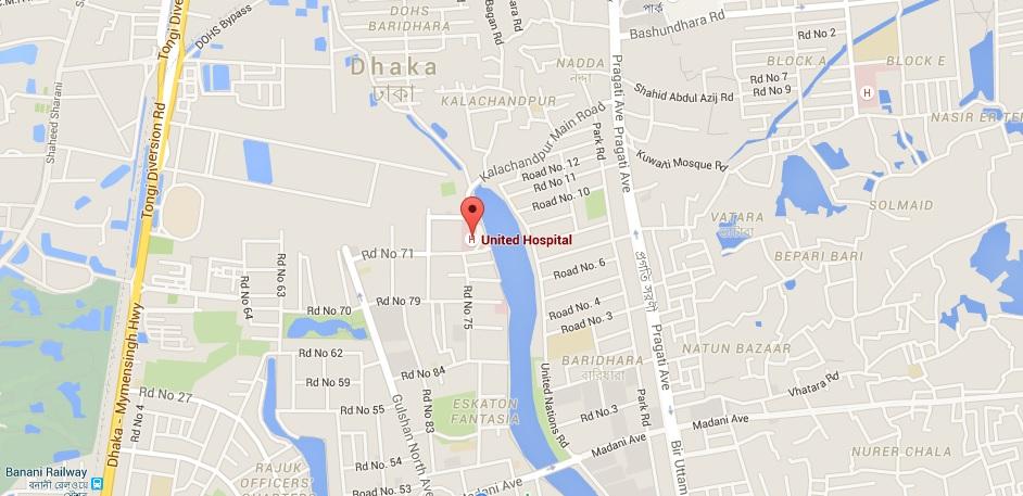 Hospital Location Map