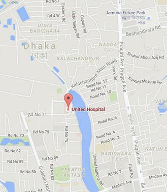 Hospital Location Map - United Hospital